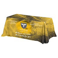 4-Sided Throw Style Table Covers All Over Full Color Dye Sublimation Imprint - Fits 6 Foot Table